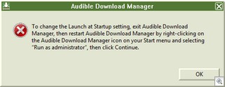 audible - run as administrator