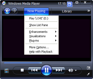 Windows Media Player 11 Show Play List