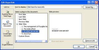 Add bookmark on a hyperlink in PowerPoint 2007