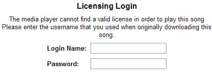MSN Music - The media player cannot find a valid license to play this song