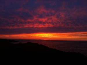 2012 Bardsey sunset